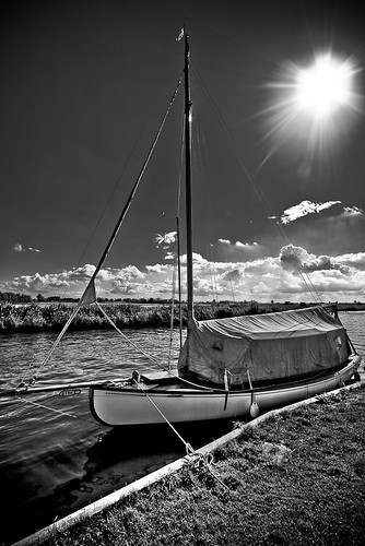 Norfolk Broads - Lonely Boat