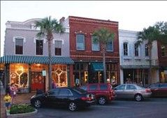 residences above shops in Fernandina Beach, FL (by: Watersheds Florida via NOAA)