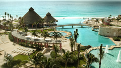 Cancun, MEX (transmix) Tags: vacation beach pool mexico hotel huts cancun waterslide relaxation westin