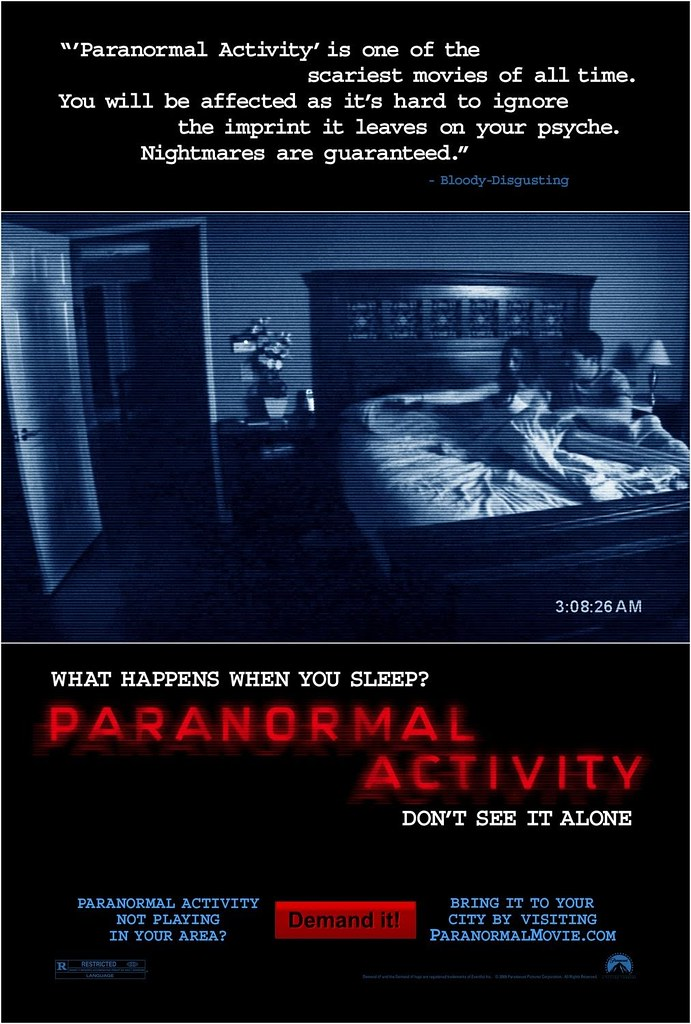 película Paranormal Activity poster