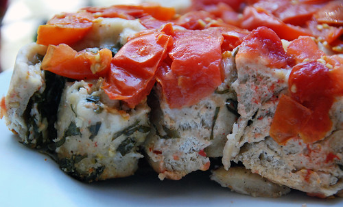 Tomato-Basil Upside Down Bread