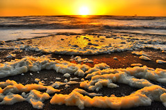 Rialto Beach, Olympic National Park, Washington State (Don Briggs) Tags: ocean sunset pacificocean foam pacificnorthwest olympicnationalpark forksarea nikon18200lens 3xhdr donbriggs nikond5000 rialtobeacholympicnationalparkwashingtonstate