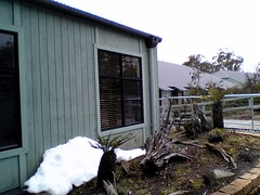 Snow at Cradle Mountain Chateau