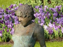 ARRÊT SUR IMAGE (Olivier Simard Photographie) Tags: portrait holland art fleur statue bronze fleurs lumière enfant couleur hollande kukenhof lisse oliviersimard photographieoliviersimard copyrightréservéoliviersimard oliviersimardphotographie