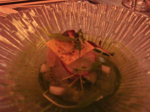 Tai Snapper and Cucumber Ceviche