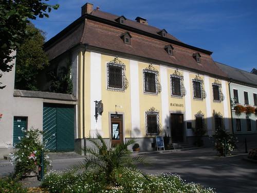 Persenbeug, Baja-Austria (el arte de las fachadas de Persenbeug) - Municipalità, ayuntamiento, mairie, town council - Rathaus zu Persenbeug