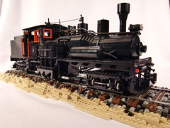Lego Shay Logging Locomotive Sculpture (Brickbaron) Tags: railroad sculpture train lego logging 09 brickfest bestsculpture