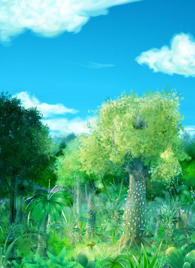 叢林-綠色原始版