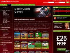 Ladbrokes Mobile Casino Lobby
