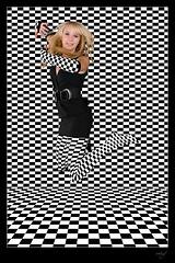 Mira Jumpshot Checkers (mhy design) Tags: blackwhite checkers mira karo checked opart cinetismo mirag karos kariert mhy sonya100 mhydesign