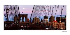 Brooklyn Bridge (n&s I Photography) Tags: street city nyc bridge light sky usa moon ny newyork colour cute art history monument architecture night idea noche photo calle big arquitectura nikon flickr day peace dof place live space air creative nypd ciudad paisaje we cielo moment yankees arco espacio iloveny ltytr1 nahikarisergio