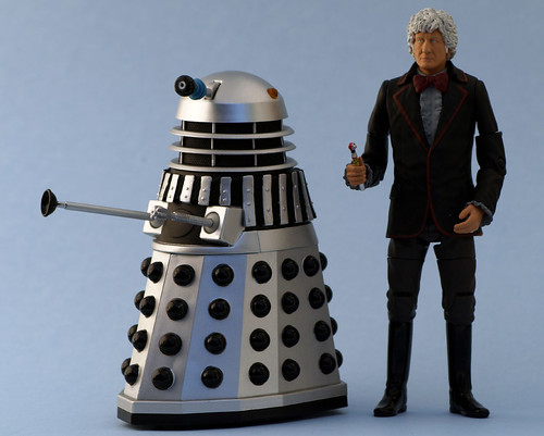 The Third Doctor and Dalek