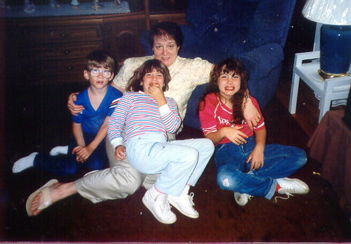 Grandma, Punk, Birdie and I in 1987