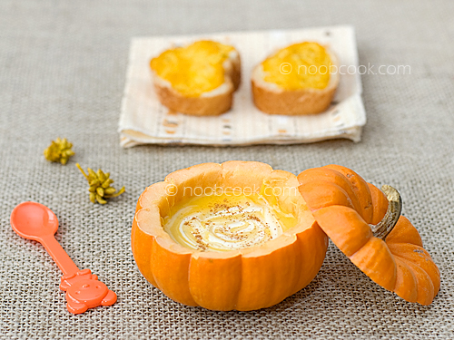 Creamy Pumpkin Soup  with Pumpkin Toast