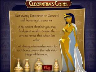 free Cleopatra's Coins slot bonus game
