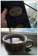 Wake up call. (needafocus) Tags: blue hand tea organic breakfasttea