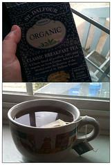 Wake up call. (needafocus) Tags: blue hand tea organic breakfasttea