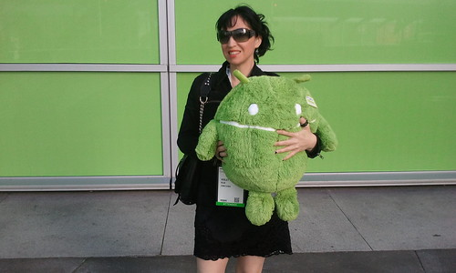 The now: outside Google IO with my new Droid baby!