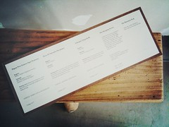 Menu, The Steeping Room