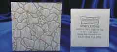 Congoleum-Nairn Vinylstone Embossed Asbestos Floor Tile # VA 596 (Asbestorama) Tags: vintage tile 60s floor inspection vinyl retro safety sample 1960s flooring survey hazard resilient salesman 1964 nairn asbestos covering congoleum specifier