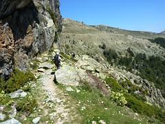 Récupération du sentier vers Bocca Cappizzolu : passage de la 1ère crête