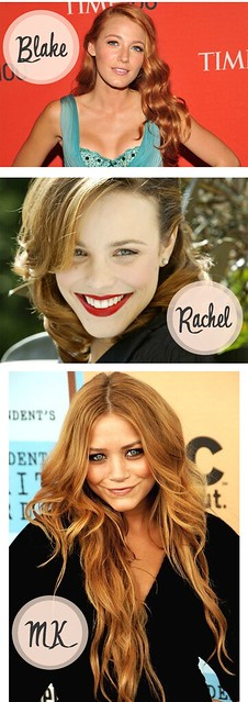 strawberry blonde hair blake lively rachel mcadams mary-kate olsen hair by firstflicker1