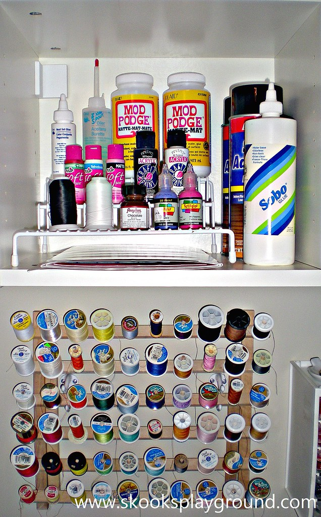 Paint Glue Thread Cubby
