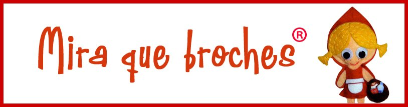 ¡Mira qué broches!