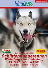 Winterberg Schlittenhunderennen 2009 Plakat
