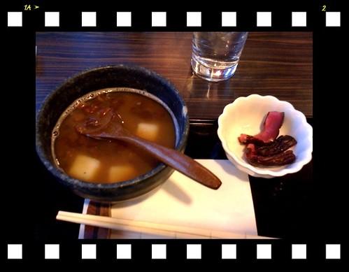 名古屋のカフェにて ぜんざい