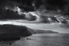 North coast of Madeira (Silver Doctor) Tags: seascape monochrome clouds landscape cliffs madeira lanscape northcoast selenium golddragon platinumphoto