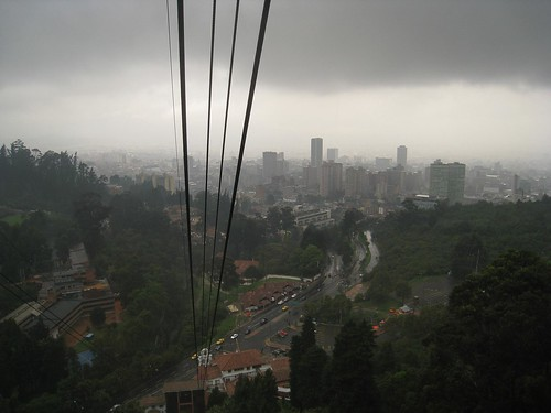 View of cloudy Bogota
