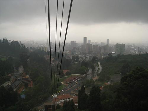 View of cloudy Bogota