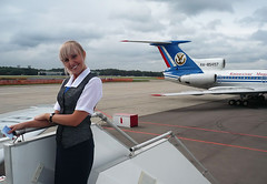 Airport,aircraft & girl (Osdu) Tags: portrait people girl airport russia aircraft aviation airplanes flight crew hostess airlines stewardess flightattendant tupolev airhostess stewardes tu154 azafata kmv utair aeromoza htessedelair assistentedivolo kmvkavkazskiemineralnyevody