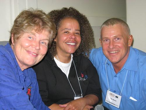 Torie Osborn, Lisa Powell and Mike Bonin