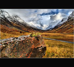 Rock On ! - Glencoe - Scotland (Magdalen Green Photography) Tags: snow landscape scotland highlands scottish glencoe hdr rockon winterscene coolclouds vanishingroad calmnaturescene iaingordon