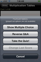 Honor grading or multiple choice is available in gFlashPro