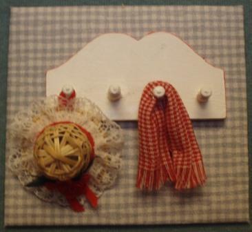 Miniature Kitchen Shelf with Accessories