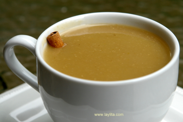 Colada de avena is a typical drink from Ecuador made with oats,