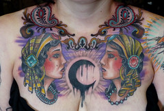 gypsies (ryanmason) Tags: tattoo portland vegan ryan chest mason tattoos piece gypsy scapegoat ryanmason chestpiece