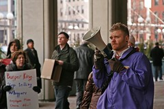 Our Chant Leader (apdonovan) Tags: boston march labor union rally fastfood protest demonstration burgerking bostonma laborunion seiu goldmansachs efca serviceemployeesinternationalunion organizedlabor 1199 canondigitalrebelxti ef28135mmf3556is 1199seiu employeefreechoiceact seiulocal615 changethatworks