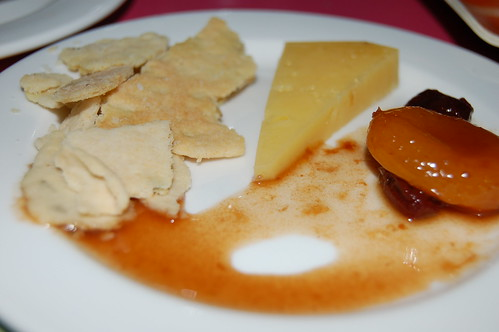 Homemade Crackers, Raw Cheddar, Mustard Fruit