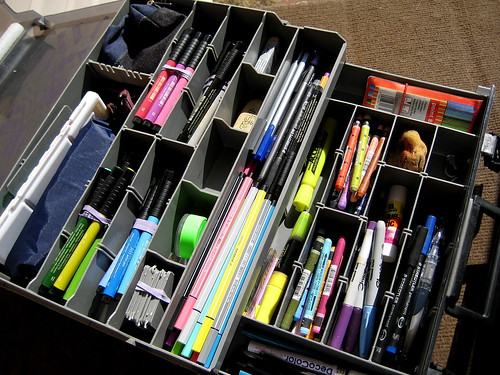 Tackle Box of Art Supplies