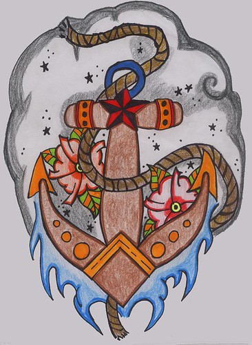 old school tattoos. Old School Anchor Tattoo