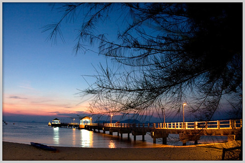 Salang Jetty in the Evening (by αгυρ / অরূপ)