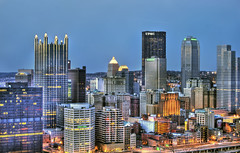 Pittsburgh in the evening HDR (Dave DiCello) Tags: windows beautiful night photoshop landscape lights evening high nikon downtown pittsburgh cityscape dynamic bright dusk steel tripod trails nikkor usx range hdr 18mm cs4 pittsburghpa highmark steelcity photomatix beautifulcities yinzer pittsburghbridges d40 cityofbridges tonemapped theburgh upmc pittsburgher beautifulskyline d40x thecityofbridges pittsburghphotography evad310 davedicello pittsburghcityofbridges steelscapes beautifulcitiesatnight picturesofpittsburgh cityofbridgesphotography