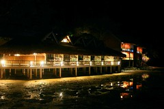 Another Day in Paradise (jfortugaleza) Tags: lighting vacation water colors night reflections dark lowlight paradise nightshot resort explore palawan cottages