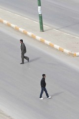 Iraqi men crossing the road. (Ben Hodson) Tags: road men love hope blood war peace crossing cross ben iraq iraqi sacrifice kurdistan kurdish kurd kurds preemptive hodson crossingtheroad iraqikurdistan benhodson preemptivelove wwwbenhodsoncouk