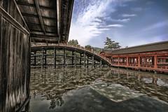 Itsukushima Shrine (Clint Koehler) Tags: bridge reflection water japan island nikon shrine asia hiroshima miyajima itsukushimashrine hdr lucisart sigma1020 nikond80 nikfilters