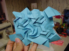 "Joel Cooper's ""Whirl"" Palmerized: Tutorial (Daniel Kwan) Tags: chris spiral origami joel daniel stage twist palmer cooper collapse hexagon fold crease tessellation tutorial kwan whirl danielkwan"